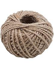 JINLL Jute Touw, 30M Jute String 3 Laags 2Mm Dikte, Jute Touw Voor Decoratie Tuin Bloemisten Diy Arts Bundelen Ambachten En Wrapping