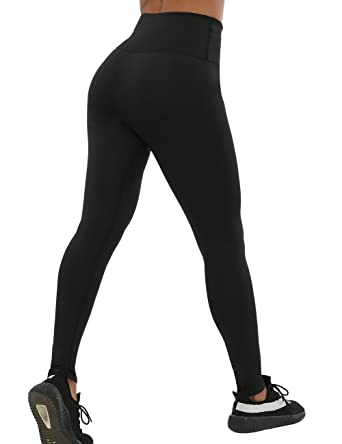 afbb43681bff8 NORMOV High Waisted Leggings for Women - Workout Leggings, Womens Tummy  Control, Side Pocket