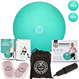 Product review for The Birth Ball - Birthing Ball for Pregnancy - Labor Ball + 18pg Pregnancy Ball Exercises Guide by Trimester How to Dilate, How to Reposition Baby & More 2000lb Stress Limit, Non Slip Socks