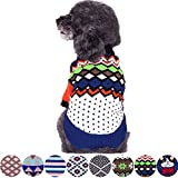 Blueberry Pet 8 Patterns Over The Rainbow Multicolor Argyle Pattern Shawl Collar Dog Sweater, Back Length 16'', Pack of 1 Clothes for Dogs