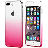 wantflyer iPhone 7 Plus Case,iPhone 8 Plus Case, Colorful Clear Flexible Soft TPU Cover for Apple iPhone 7 Plus/8 Plus(Gradient Red)