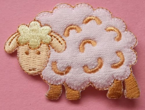 Sheep - Lamb - Farm - Flock - Terry Embroidered Iron on Applique Patch Cool Patch Iron - Applique Lamb