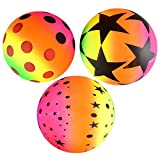 Lot Of 12 Assorted Design Rainbow Playground Inflatable Balls
