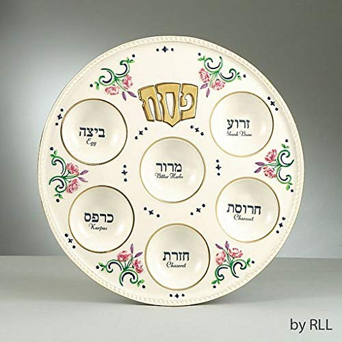 Passover Hand painted Ceramic Seder Plate