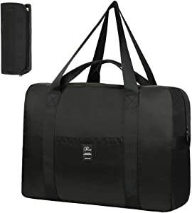 VBG VBIGER Travel Duffle Bag Foldable Sport Duffle Nylon Luggage Bag Duffle Tote Bag 35L with Pockets for for Weekend Overnight Trip (35.5L)