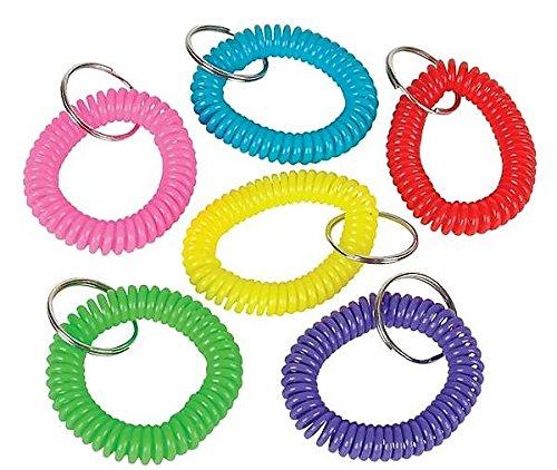 Expandable Spiral (Neliblu 2 Dozen Spiral Keychain Bracelets 2.5