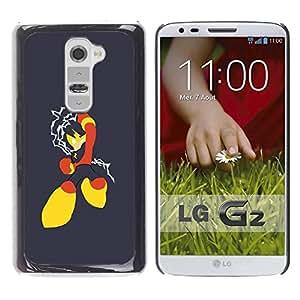 Be Good Phone Accessory // Dura Cáscara cubierta Protectora Caso Carcasa Funda de Protección para LG G2 D800 D802 D802TA D803 VS980 LS980 // Red Yellow Superhero