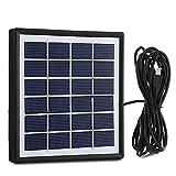 INLIFE Panel Solares Cargador Solar Plegable Cargador Externa Portátil para Móvil Télefono Celular com 3M Cable 1.8W 6V