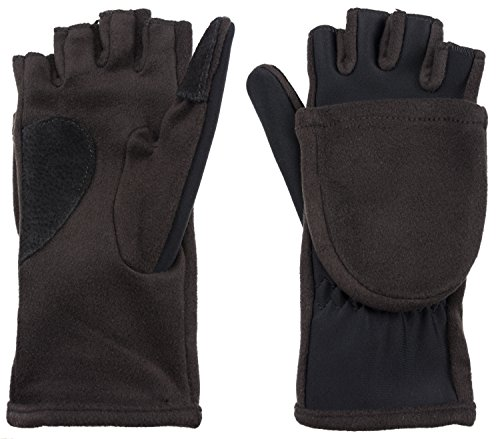 - Isotoner Women's Hybrid Convertible Flip Top Gloves with Magnet Black One Size