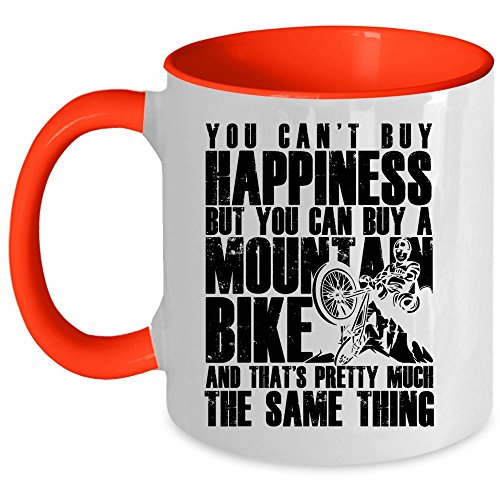 I'm A Mountain Biker Coffee Mug, You Can Buy A Mountain Bike Accent Mug (Accent Mug - Red)