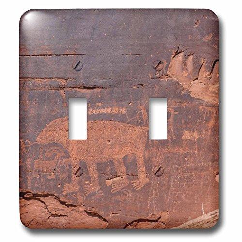 3dRose Danita Delimont - Artwork - Petroglyphs rock art, Arches National Park, Utah, USA. - Light Switch Covers - double toggle switch (lsp_260359_2) (Art Rock Petroglyph)
