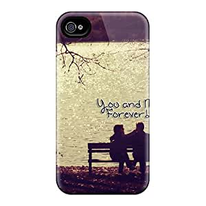 Shock-Absorbing Hard Cell-phone Cases For Iphone 4/4s With Allow Personal Design High Resolution You And Me Pattern JohnPrimeauMaurice