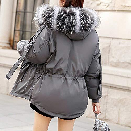 E giacca Morwind Maniche Lunghi Donna Cappotto Cotone Imbottita Donne Autunno Di Cappuccio A Spessi Inverno Per Gray Capispalla Modo Ragazze Lunghe Slim Caldo In Xw8xXrf1q