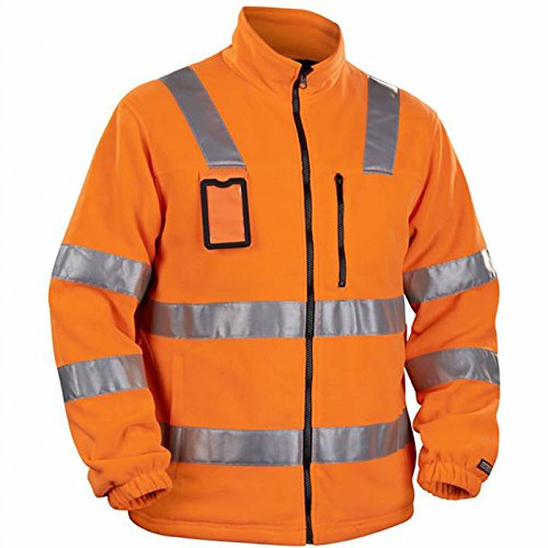 Blakläder Fleecejacke High-Vis Klasse 3 Größe M in Orange, 1 Stück, 485325605300M