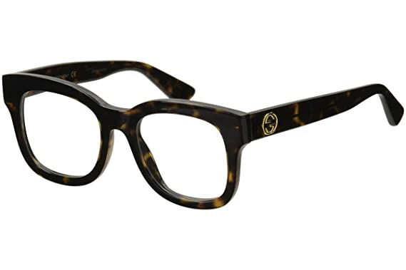 d3de9c69adf Image Unavailable. Image not available for. Color  Gucci Women s  Gg0033o-30000980002 50Mm Optical Frames
