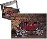 PHOTO JIGSAW PUZZLE. Photo Puzzle (252 Pieces). Artwork depicting United States, Utah/Arizona Border, Navajo Nation, Monument Valley, historic stage coach at Goulding s Trading Post. Shipping from USA.