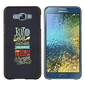 LECELL--Funda protectora / Cubierta / Piel For Samsung Galaxy E7 E700 -- Sino Amigos Funky texto gris Feel --
