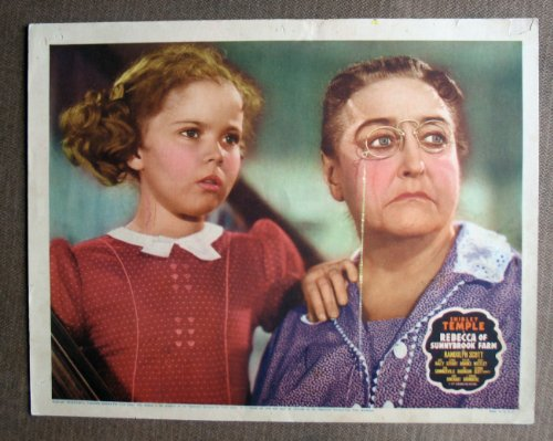 (A44 Rebecca Sunnybrook Farm SHIRLEY TEMPLE Lobby Card. This is an original lobby card; not a dvd or video. Lobby cards were used to advertise film playing at theater and they measure 11 by 14 inches.)