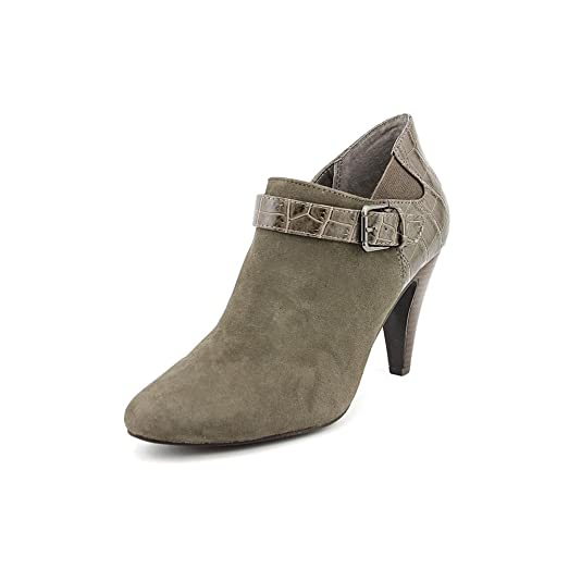 Shirlee Women's Warm Grey Leather Fashion - Ankle Boots US10