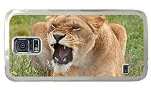 Hipster indestructible Samsung Galaxy S5 Cases angry lioness PC Transparent for Samsung S5