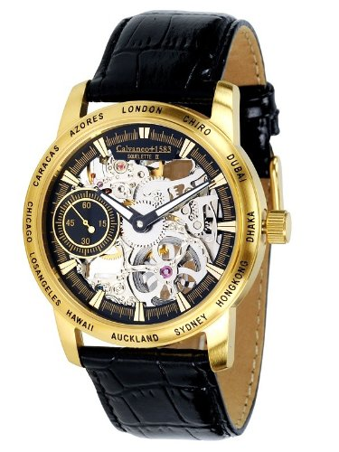 Calvaneo Squelette II Gold (mechanical)