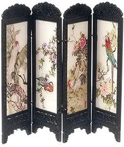 Amazon.es: Melody Jane Miniatura para Casa de Muñecas Chino Habitación Vestidor Pantalla Exótica Aves Diseño 8132: Juguetes y juegos