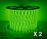 Boshen LED Rope Strip Lights for Home Parties Weddings Christmas Decoration, 36 LEDs/3.28FT 110V Flexible Rainbow Tube Light Water Resistant for Indoor Outdoor Use (Cuttable Every 3 Feet)