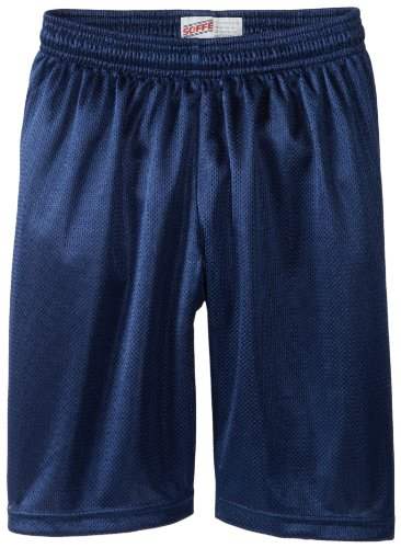 Soffe Big Boys' 7 Inch Poly Mini Mesh Short, Navy, Large (Mesh Soffe)