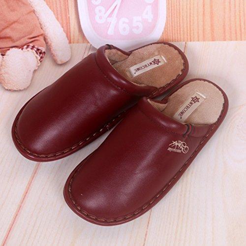 Fankou pantofole uomini e donne matura Impermeabili di cotone pantofole pantofole ,39/40, viola