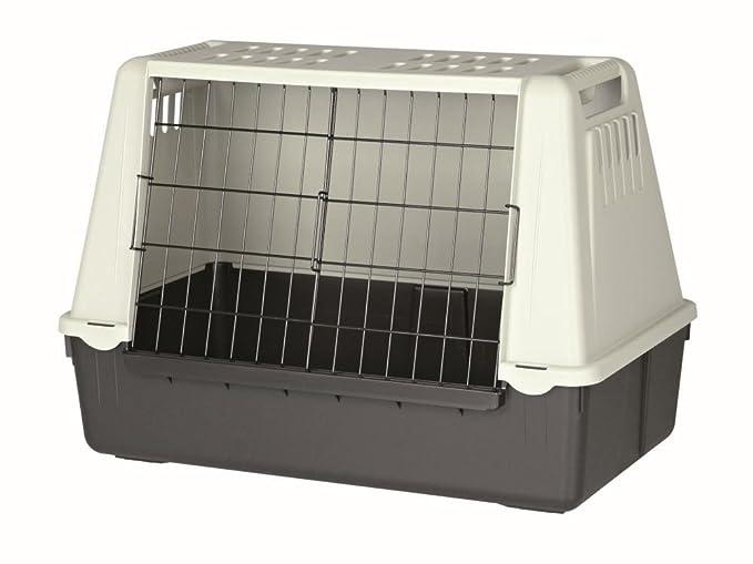 Jaula para perros TRIXIE Transporte coche Negro/Gris: Amazon.es ...