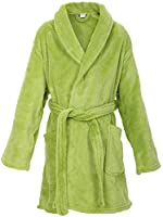 EPYA Kids Boys Girls Teens Plush Kimono Robe Velvet Fleece Bathrobe