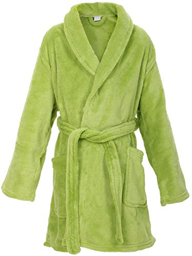 EPYA Kids Boys Girls Teens Plush Kimono Robe Velvet Fleece Bathrobe