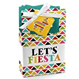 Big Dot of Happiness Let's Fiesta - Mexican Fiesta Party Favor Boxes - Set of 12