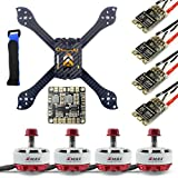 QWinOut DIY Accesory Kit 210mm X Shape Frame RS2306 Brushless Motor 30A ESC with PDB 5V BEC for FPV Racing Drone Quadcopter Multicopter with Hobbywing XRotor ESC
