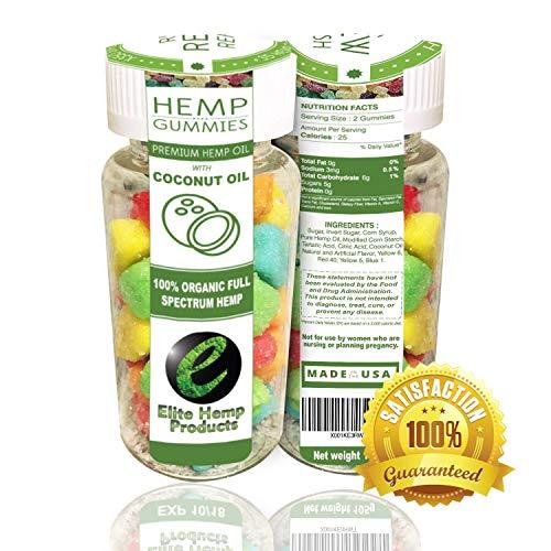 70ct Premium Hemp Gummies - 2100MG -30mg Per Gummy - Organic Full Spectrum Hemp - Stress Relief, Inflammation, Pain, Sleep, Anxiety, Depression, Nausea - Vitamin E, Vitamin B, Omega 3,6,9 and More