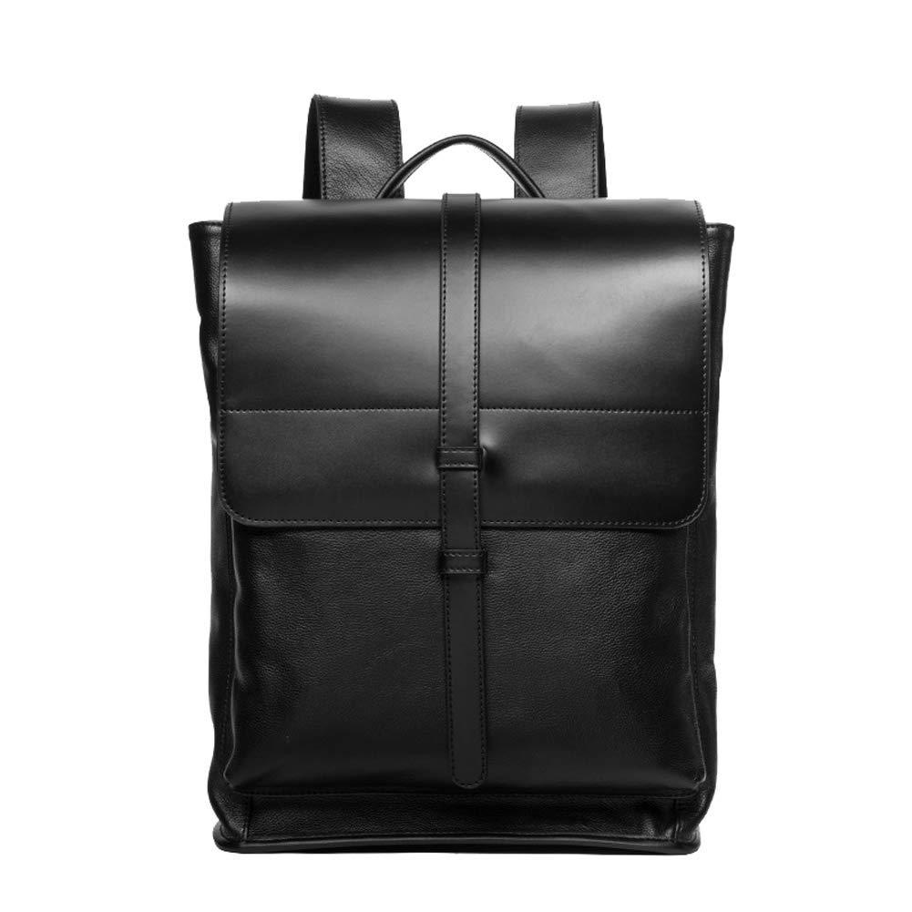 メンズバックパック、ファッションビジネストップレイヤーレザーメンズシンプルなカジュアルバックパック、ビジネストラベル出張用ショッピン   B07RMH82CV