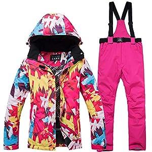 Ensemble de pantalon et veste de ski imperméable, pour femme, pour l'extérieur