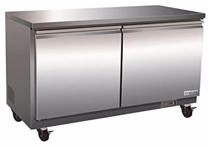 Empura E KUC48 Stainless Steel 48.2u0026quot; Undercounter Refrigerator With Double  Door, Electronic Thermostat