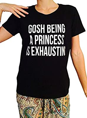 ZHENYUL Women's Short Sleeve Princess Funny T Shirts Juniors Cool Saying Tops for Her Gift
