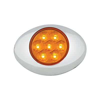 Grand General 76230 Amber Small Low Profile 7-LED Marker Clearance Sealed Light with Chrome Bezel and Amber Lens: Automotive