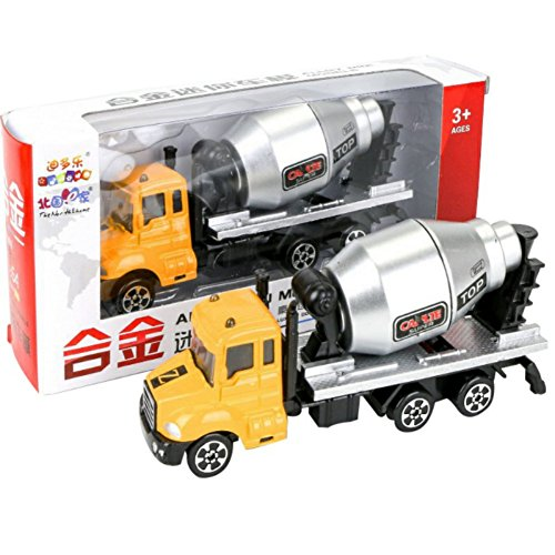 Wenasi Engineering Toy Vehicles Alloy Car Mini 1:64 Cement Concrete Mixer Truck for Childrens Boys Toddlers Car Toy Gift (Mini Concrete)