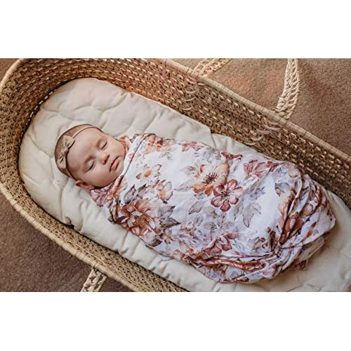 Mini Scout Muslin Nursery Baby Blanket Sleeper Wrap Sunset Floral Swaddle Newborn Travel Gift
