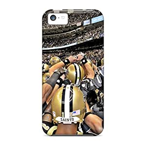 Tpu Migusas Shockproof Scratcheproof New Orleans Saints Hard Case Cover For Iphone 5c