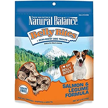 Natural Balance Belly Bites Grain Free Dog Treats, Salmon & Legume Formula, 6-Ounce
