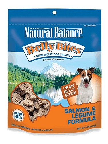 Natural Balance Belly Bites Grain Free Dog Treats, Salmon & Legume Formula, 6-Ounce - Natural Balance Beef Treats