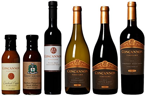 Concannon Vineyard Bourbon & Pepper Dinner & Dessert Wine Gift Set, 3 x 750 mL