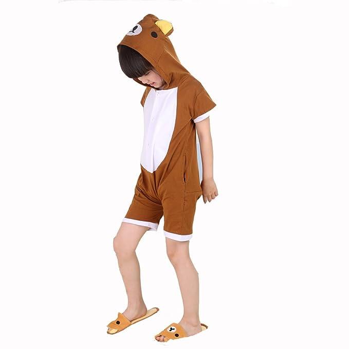 Disfraz de niño Niña pijama Unisex pijamas 100% algodón de decoraciones de corto para disfraz