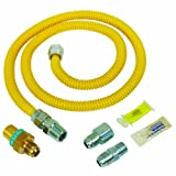 BrassCraft PSC1081 K5 Safety Plus Gas Installation Kit for Dryer and Range