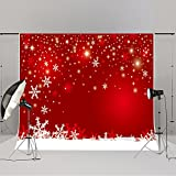 Kate 7x5ft Red Christmas Photography Backdrops Customized Snowflake Photo Studio Background Props New Year 2.2x1.5m