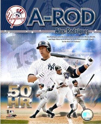 Alex Rodriguez Yankees 50 Homerun Club 8x10 Photo ()